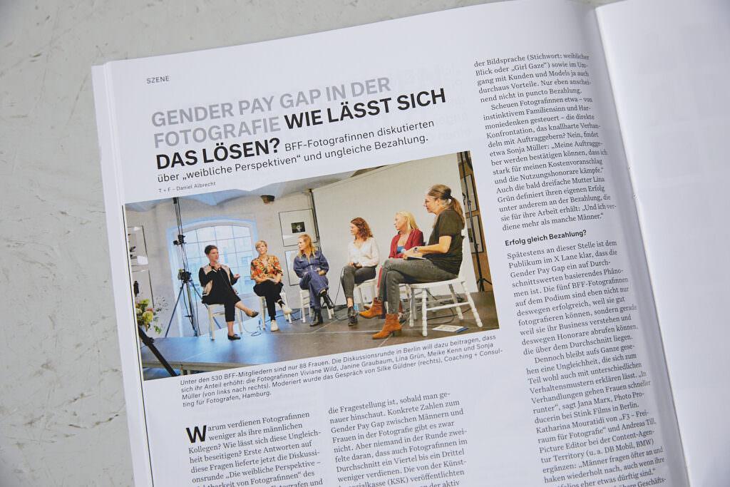 Podiumsdiskussion, BFF, Reportage, Fotografie, Gender Pay Gap, Fotograf, Fotografin, Berlin