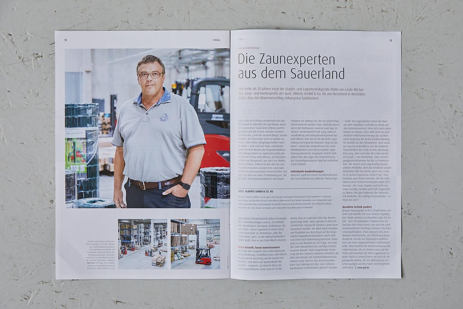 Veröffentlichung Linde Material Handling Kunden Magazin